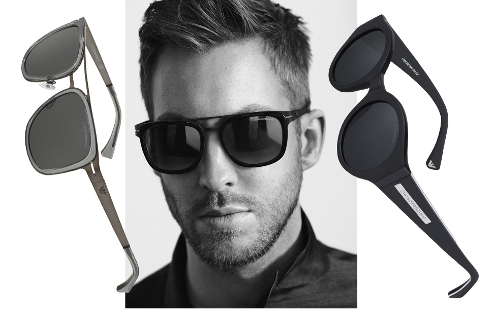 1d561e96b5 Calvin Harris visar Armanis nya solglasögon - Metro Mode