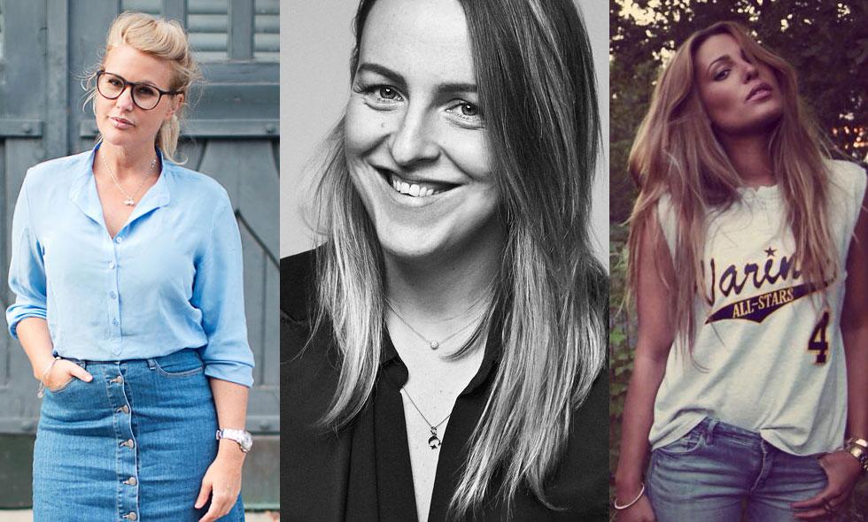 Modeveteranerna Jonna Bergh, Frida Fahrman och Sara Biderman