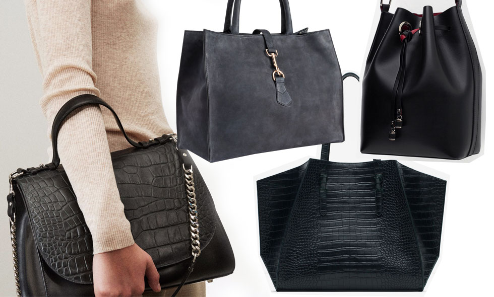 snygg svart väska