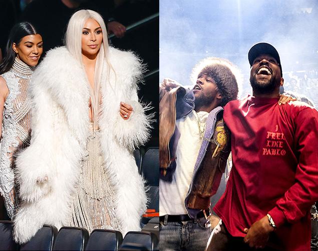 Bästa bilderna från Kanye Wests visning – Familjen Kardashian/Jenner glänste i publiken