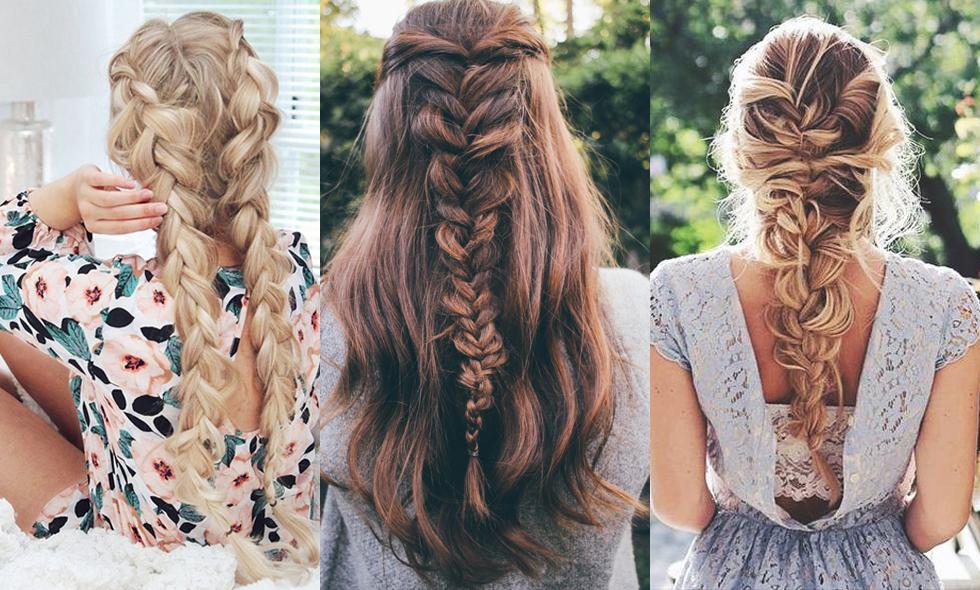 fina frisyrer för långt hår