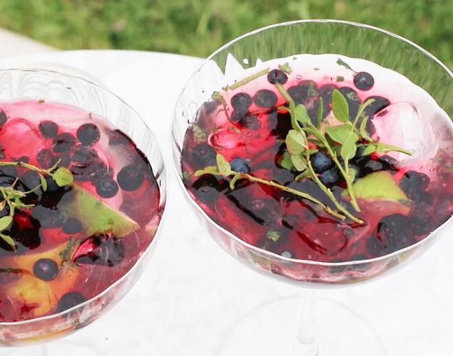 WEBB-TV: Pimpa bästa drinken med blåbär i en blåbärsmojito