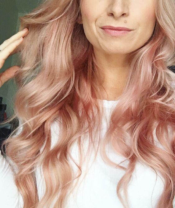 färga håret rose gold