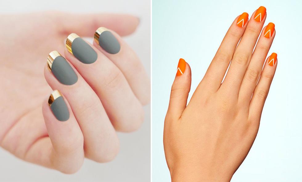 snygga höst naglar