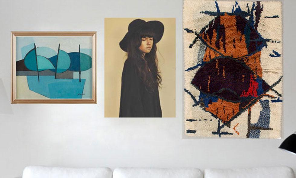 konst på väggen