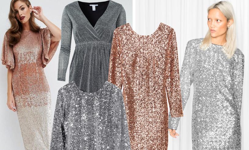 Glittrig klänning med paljetter