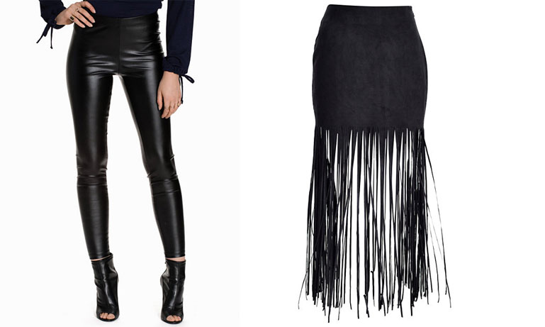 Senaste modetrenden: Kjol över byxor Metro Mode