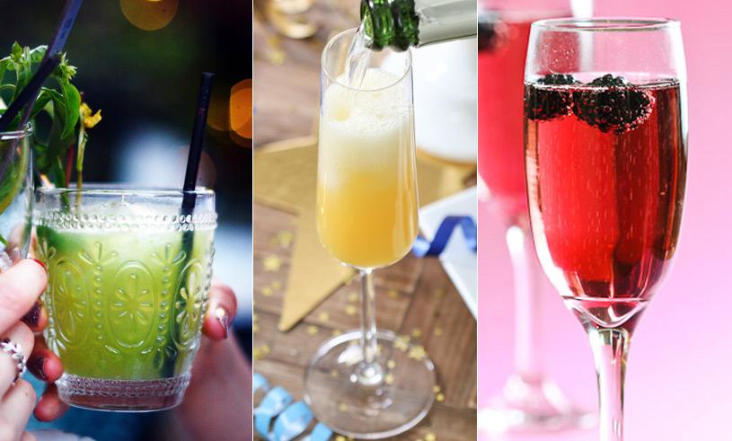 6 enkla drinkrecept på mousserande drinkar till nyårsfesten