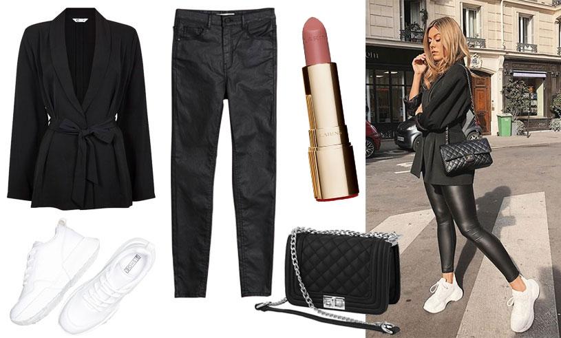 Sno stilen av Bianca Ingrosso Skinnbyxor och chunky