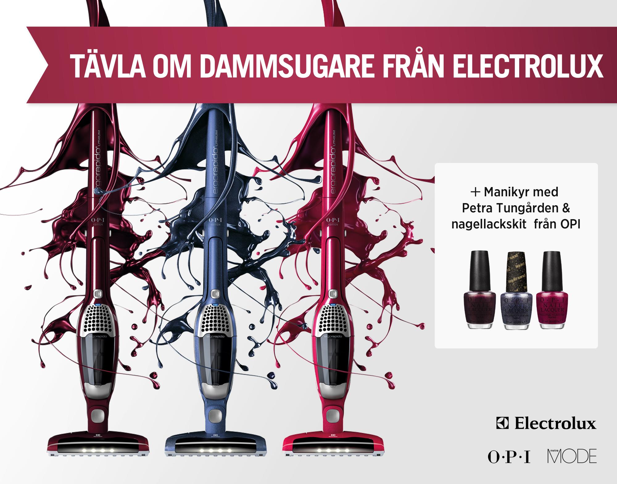 Vinn dammsugare från Electrolux och nagellackskit från OPI!