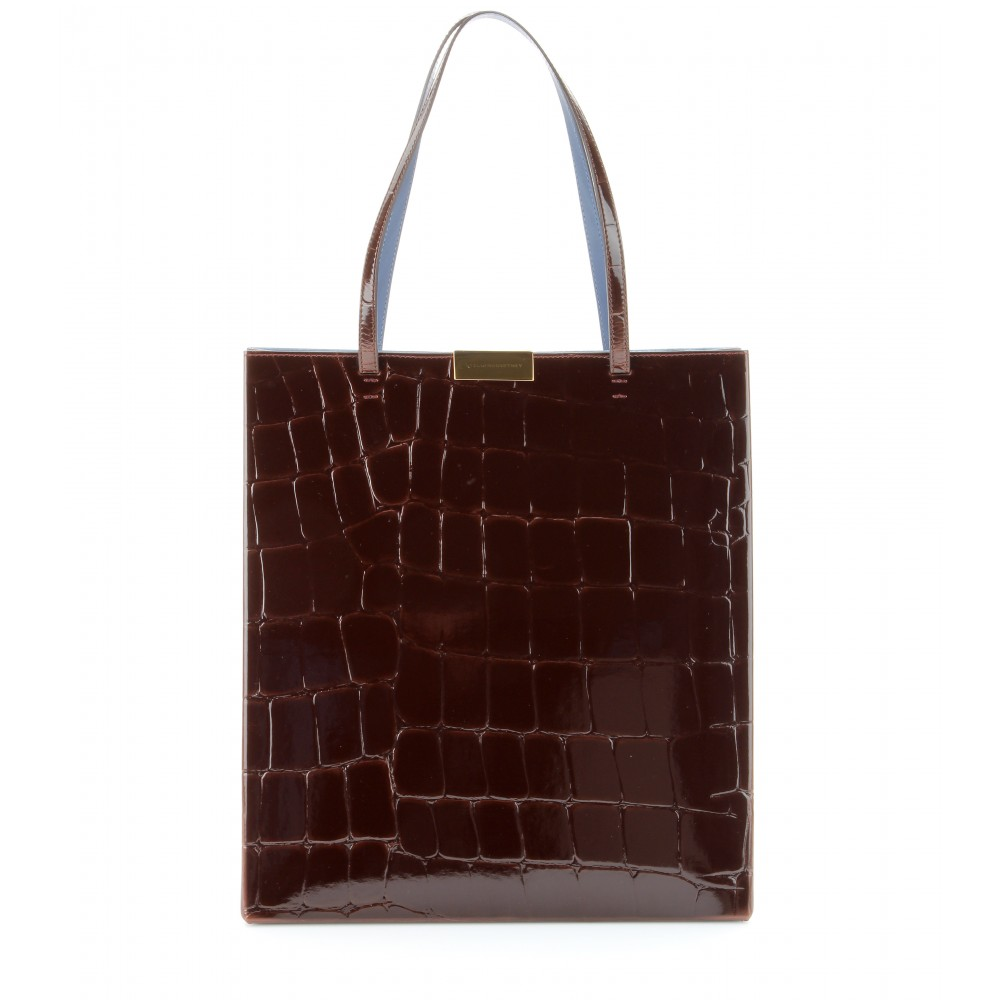 P00096112-Croc-effect-faux-patent-leather-tote--STANDARD