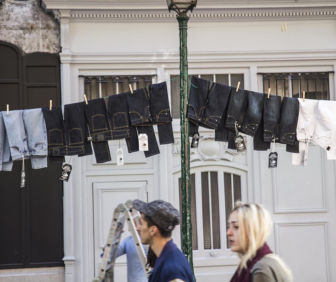 Jeans gureilla_CM Store opening Paris_2