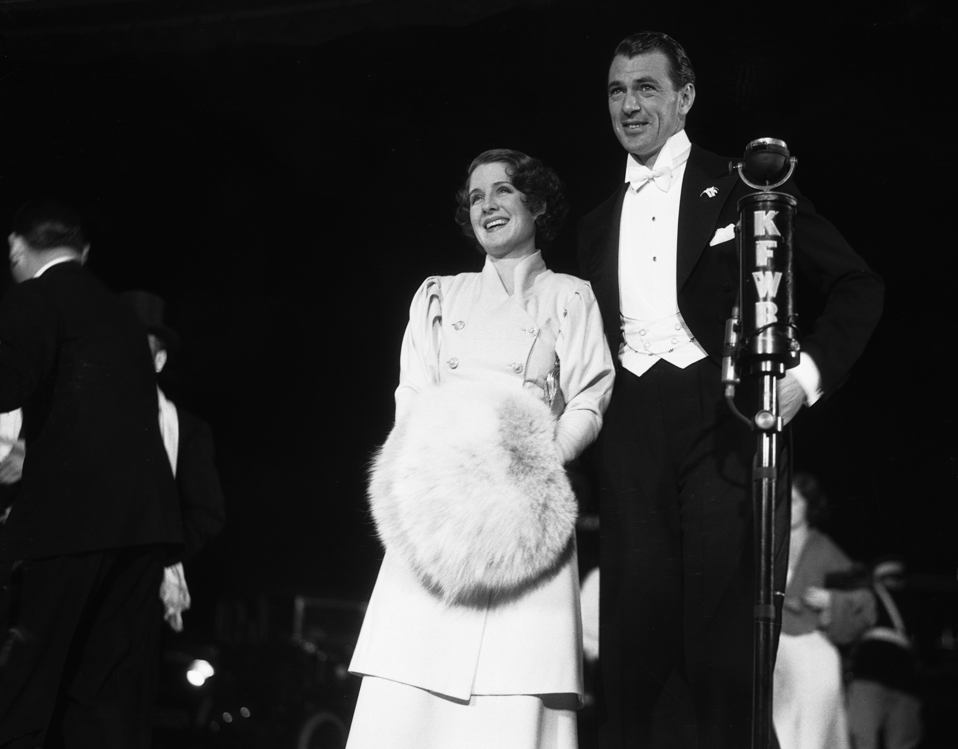 Norma Shearer with Muff and Gary Cooper In Tuxedo