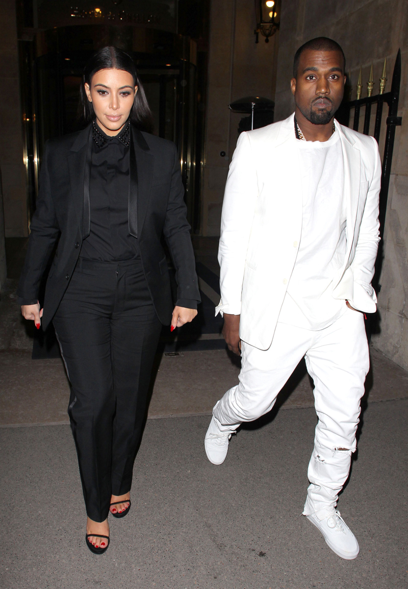 Kim Kardashian and Kanye West out and about, Paris, France - 03 Mar 2013