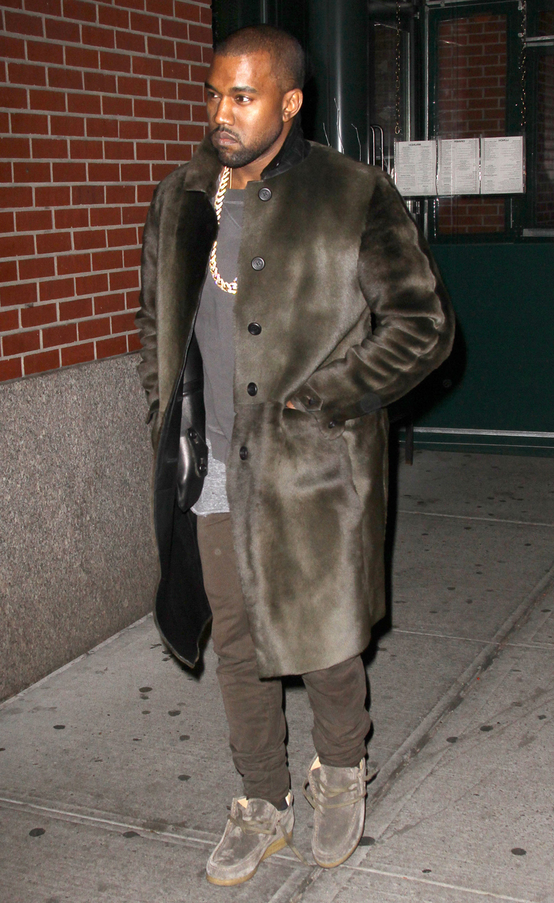 Kim Kardashian and Kanye West out and about, New York, America - 25 Nov 2013