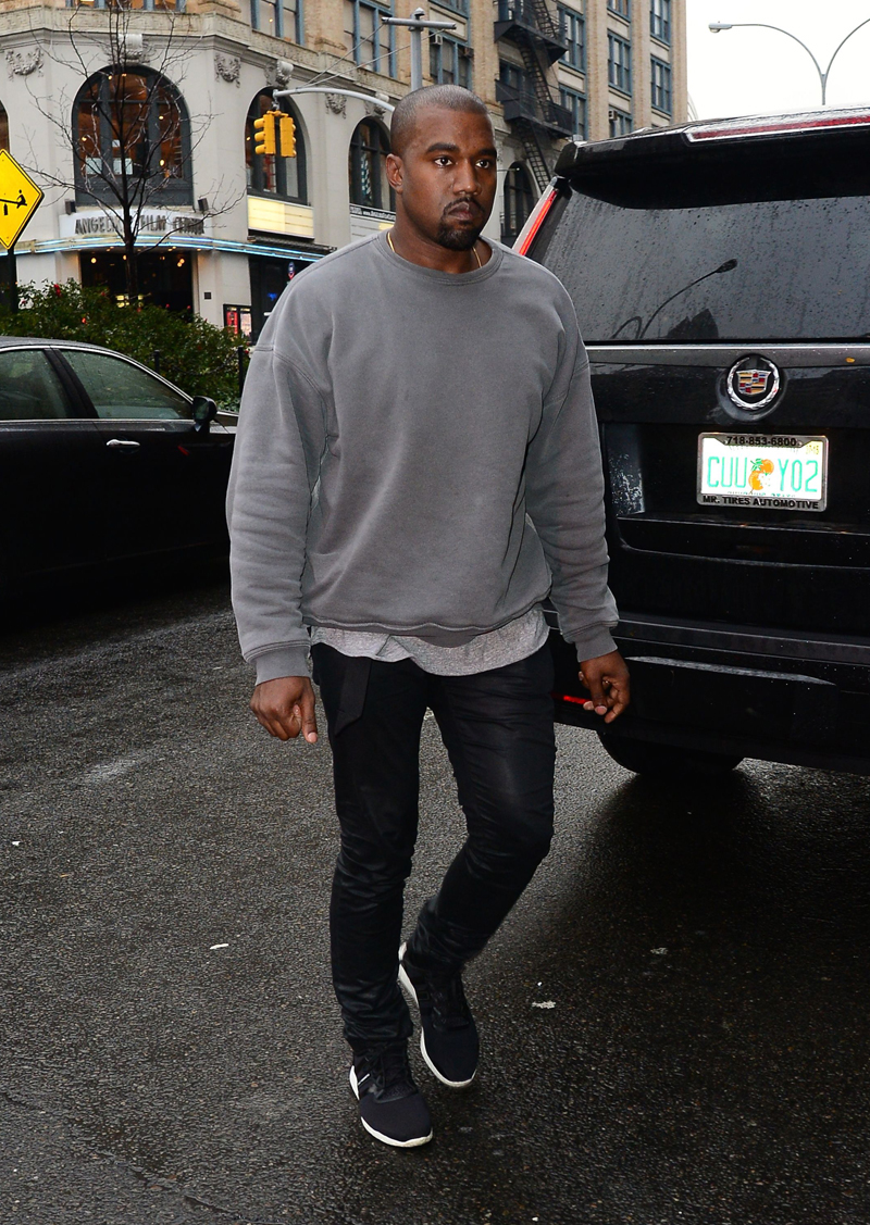 Kim Kardashian and Kanye West out and about, New York, America - 06 Nov 2014