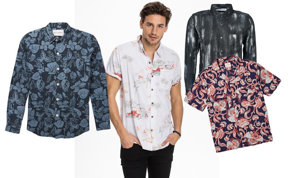 Mönstrade skjortor är helt rätt i vår