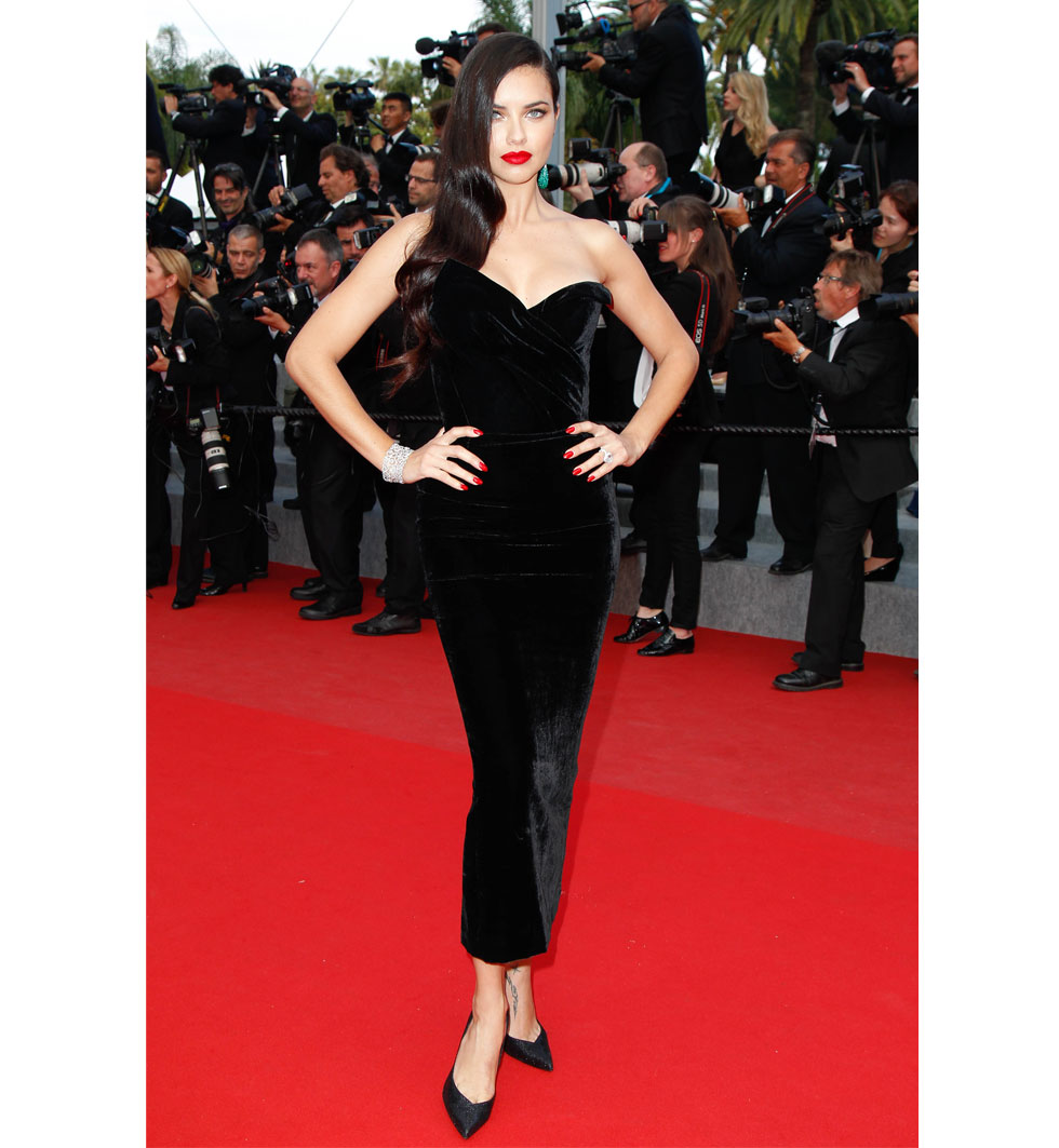 Adriana Lima under Cannes filmfestival 2015