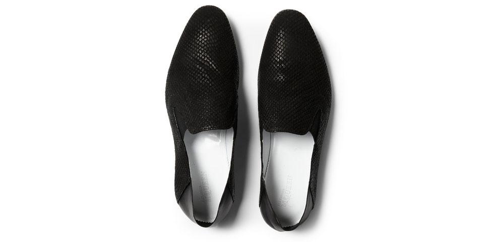 Alexander Mcqueen slip in loafers för män