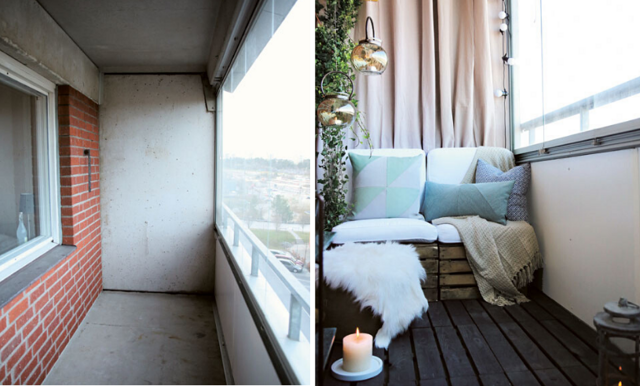 Så förvandlar du din tråkiga balkong till en mysig oas! 6 enkla tips