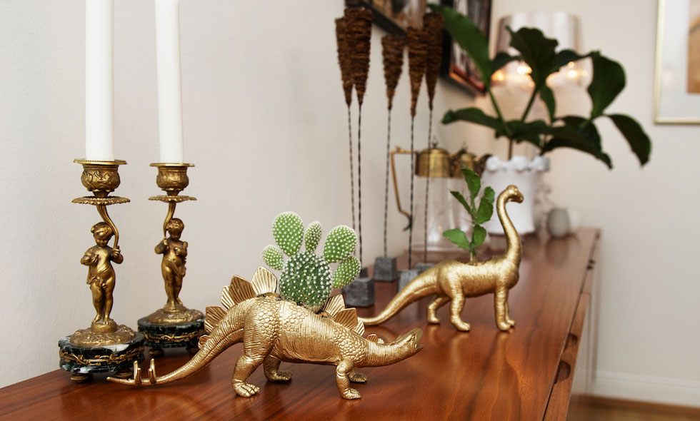 Desert Dino inredningsdetalj