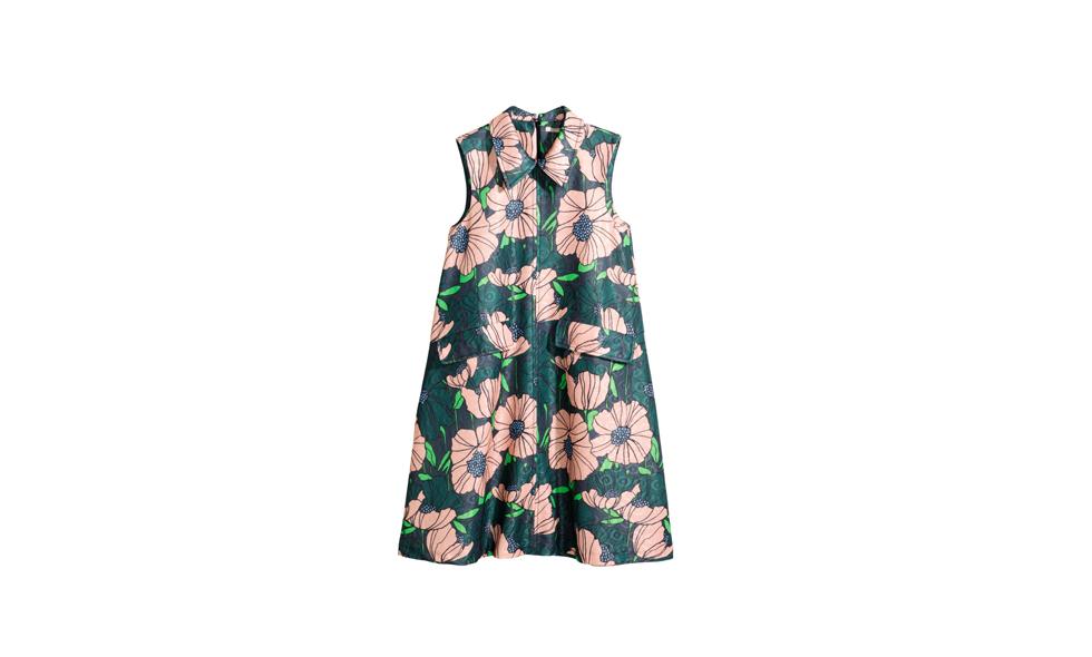 H&M, blommig klänning