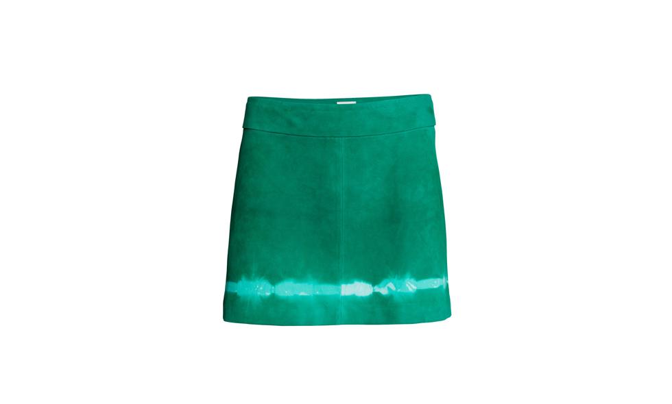 H&M Studio grön kjol