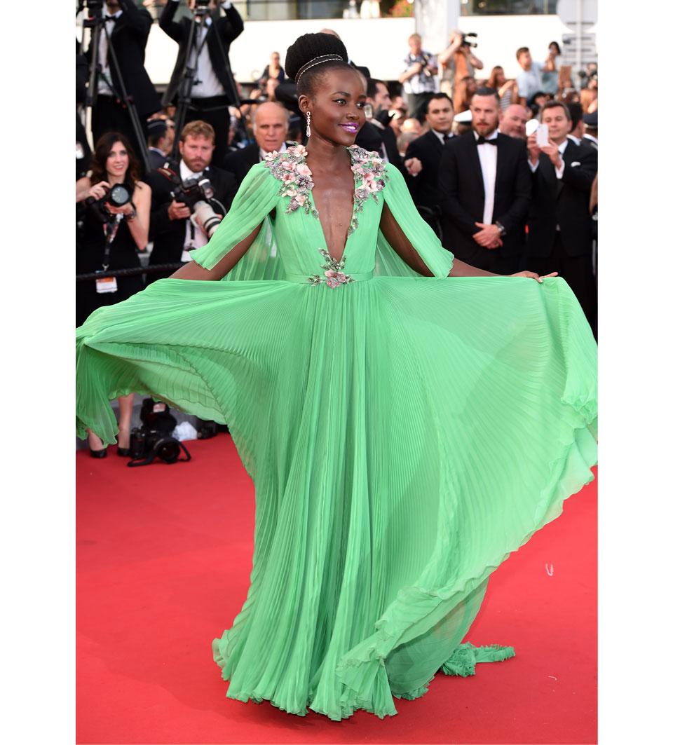 Lupita nyongo  under Cannes filmfestival 2015