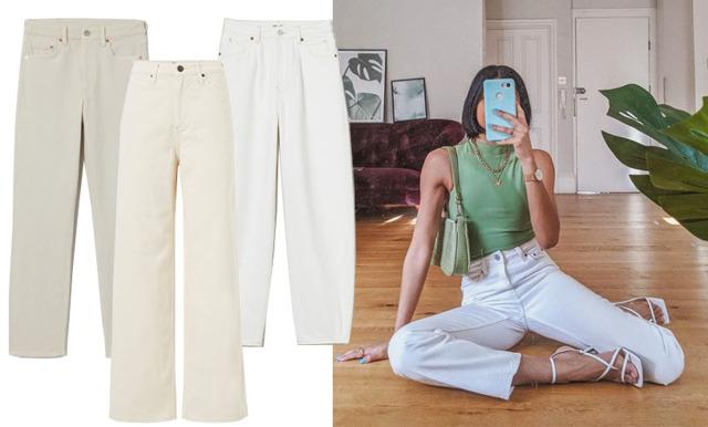 Shoppa vårens vita trend – 17 stilsäkra vita och ljusa jeans