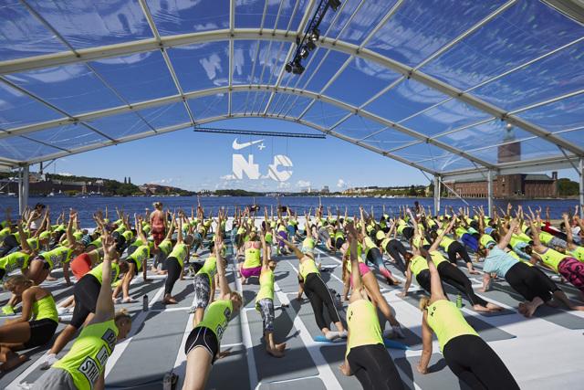 Femtusen deltog i Nikes inspirerande träningsweekend