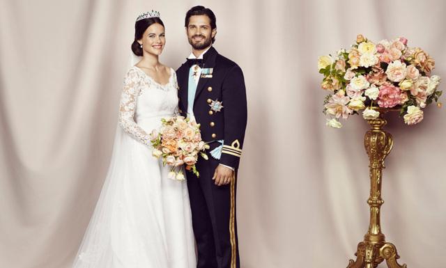 Här är de nya bröllopsbilderna på Carl-Philip och Sofia