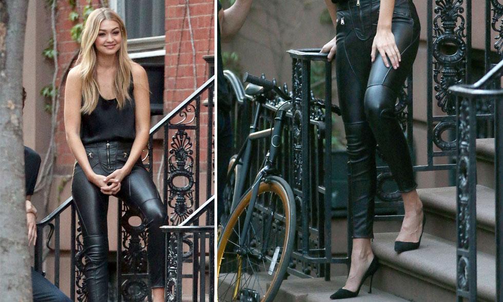 Sno stilen av modellen Gigi Hadid