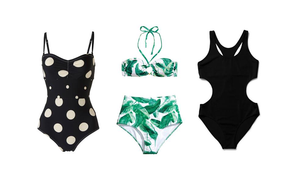 10 snygga bikinis och baddräkter till budgetpris