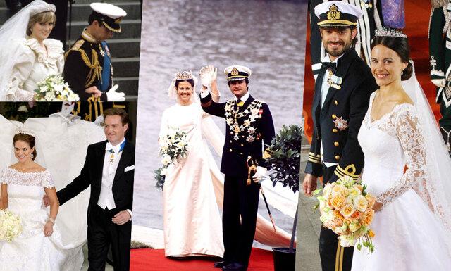 7 kungliga bröllop vi minns