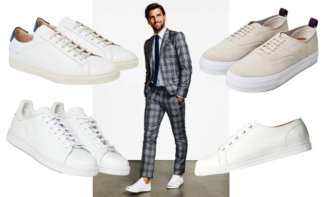 8 vita sneakers att bära i sommar