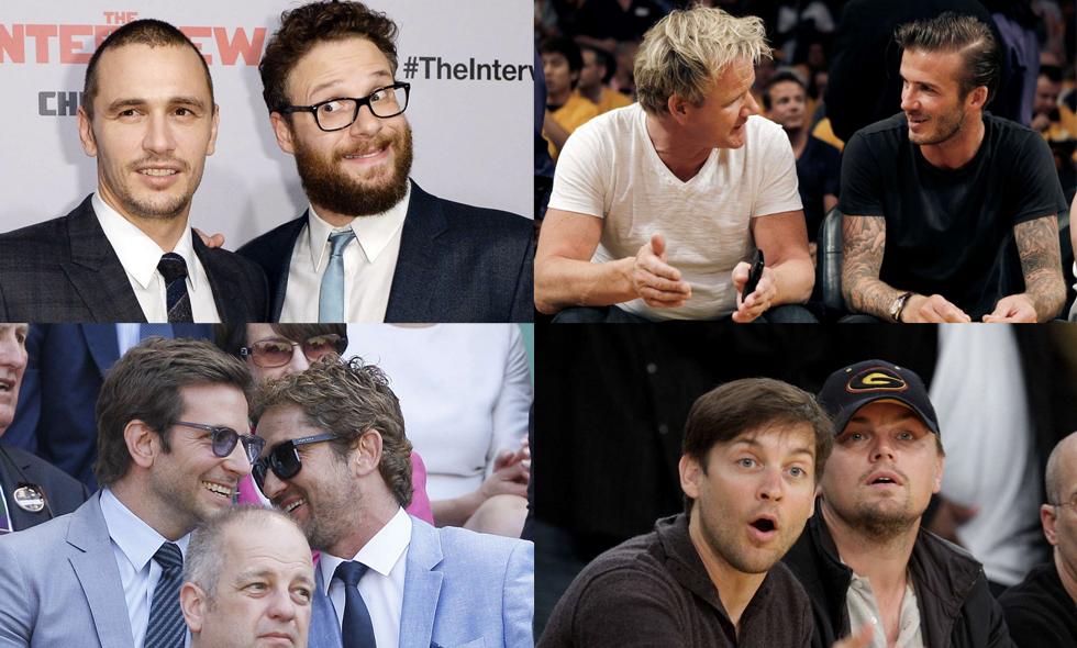 Vilken bromance! Här är 8 kända bästispar