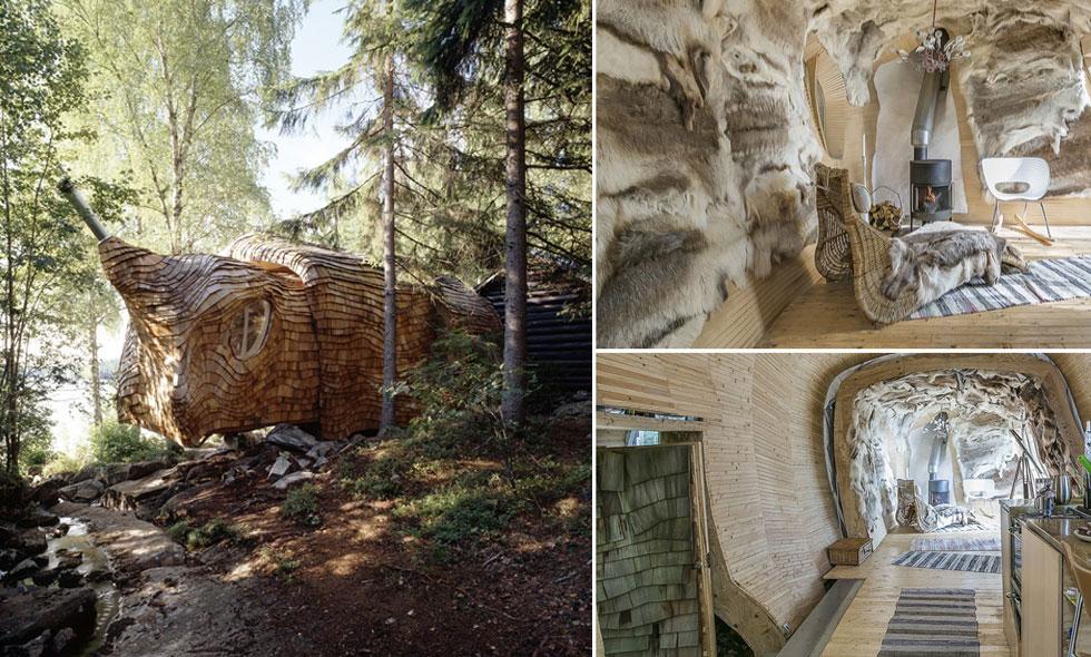"""Insidan i det arkitektritade """"Dragspelhuset"""" är helt enastående"""
