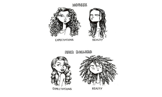 8 illustrationer som visar hur frustrerande det kan vara med långt hår
