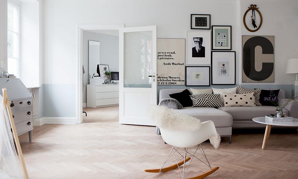 Sno stilen av den fina 20-talslägenheten i Malmö