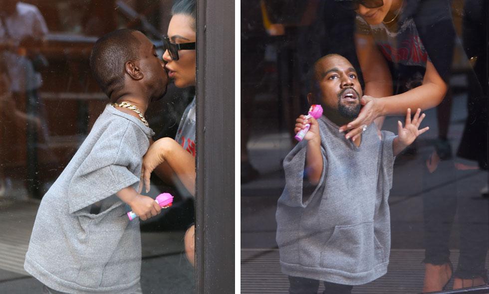 Så här har du aldrig sett Kim Kardashian och Kanye West tillsammans