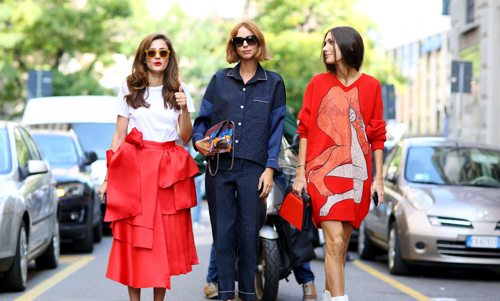 Bästa streetstylen från Milano Fashion Week