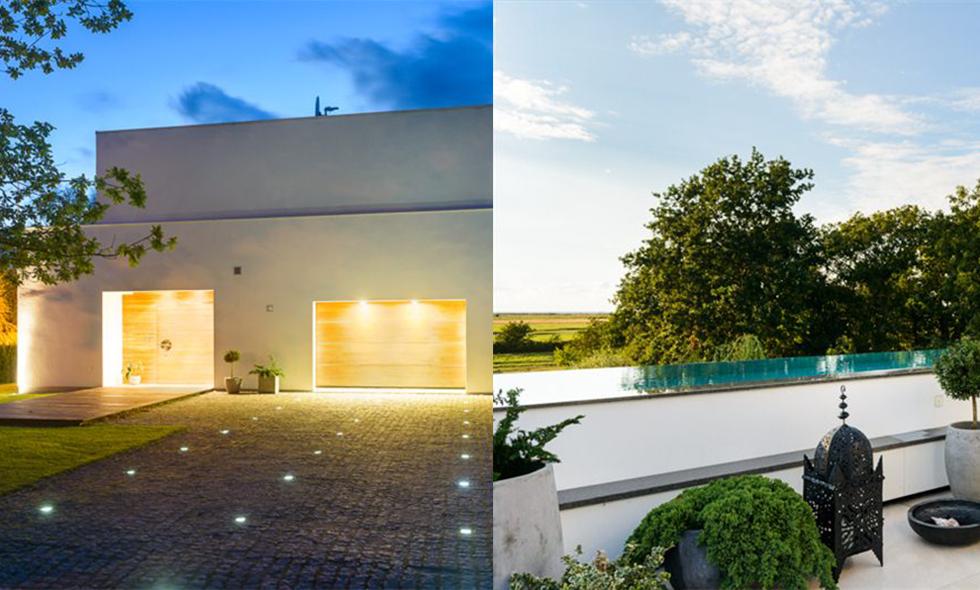 Den arkitektritade villan i Falsterbo med lyxig Miami-känsla