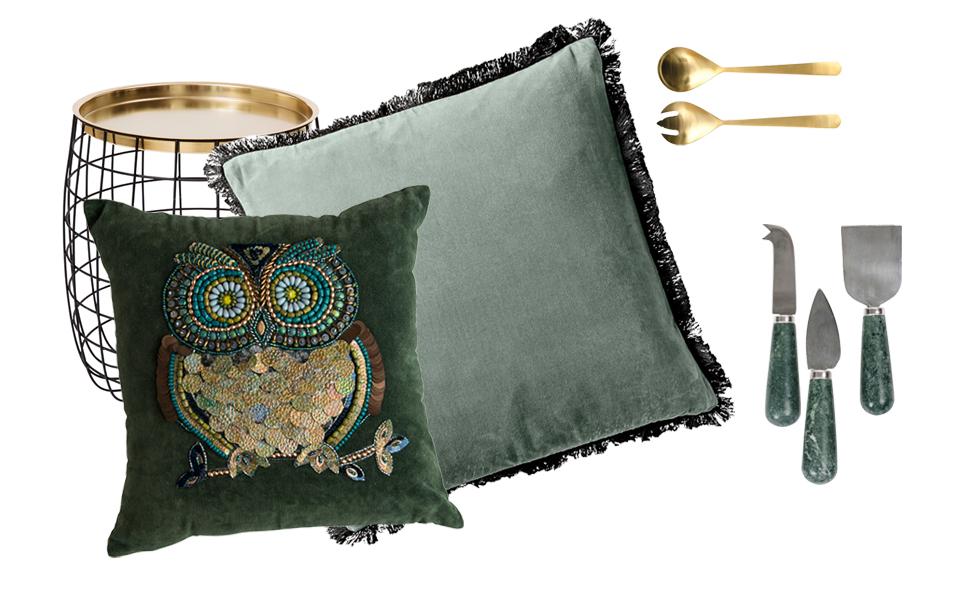 Blanka metaller och gröna toner – nytt i butik