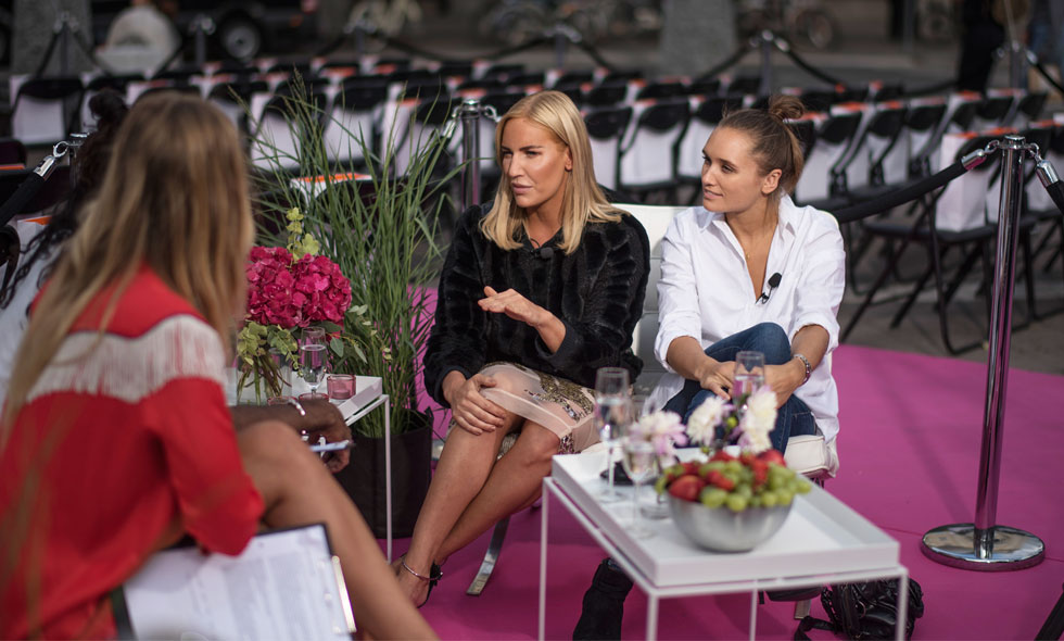Petra Tungården och Carolie Sanström