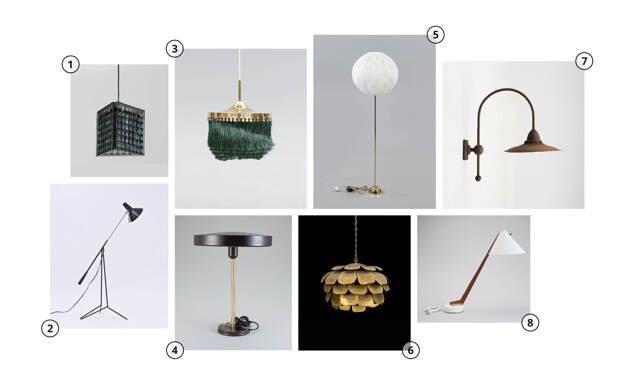 8 snygga lampor du kan buda hem på auktionssajterna nu