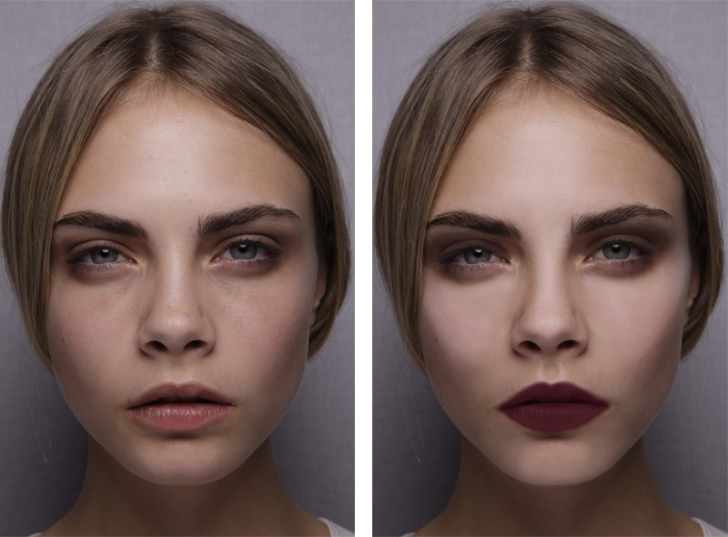 Sminktips för hösten: Brunröda läppar och hög ögonskugga