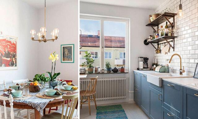 Inspireras och sno stilen av denna mysiga lägenhet där gammalt möter nytt