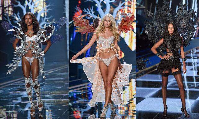 Nykomlingarna och de nya änglarna på Victoria's Secret Fashion show för 2015