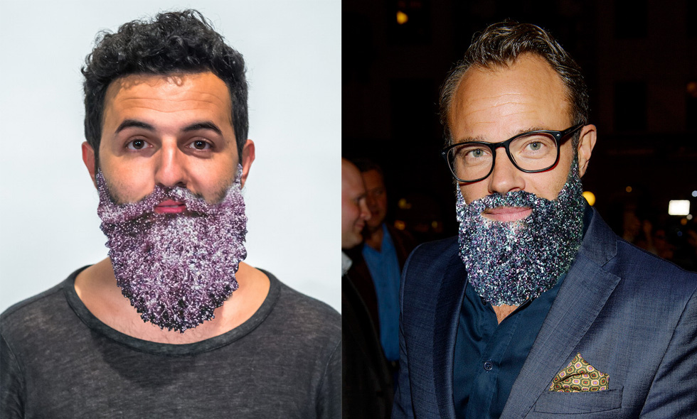 Här är några av Sveriges stiligaste män i glitterskägg