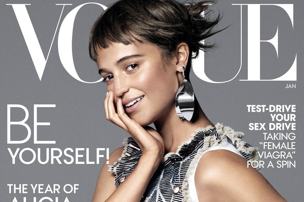 Alicia Vikander historisk svensk – på omslaget till amerikanska Vogue